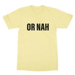 Or nah black print yellow men tshirt