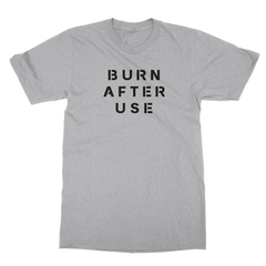 Burn after use athletic heather men tshirt