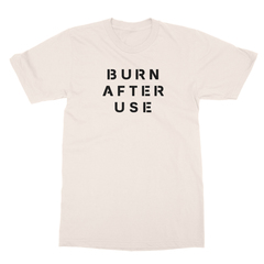 Burn after use cream men tshirt