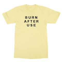 Burn after use yellow men tshirt