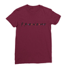 Frenemy maroon women tshirt