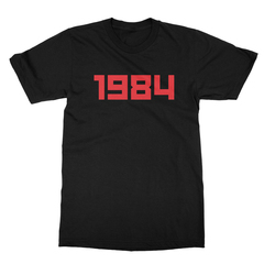 1984 black men tshirt