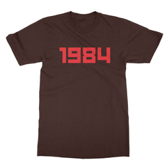 1984 chocolate men tshirt