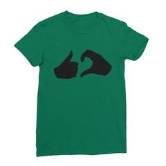 Friend zone kelly green women tshirt