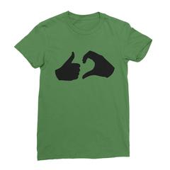 Friend zone leaf green women tshirt