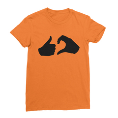Friend zone orange women tshirt