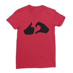 Friend zone red women tshirt