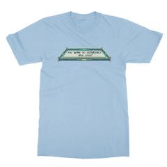 True level baby blue men tshirt