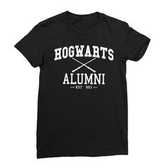 Hogwarts alumni black women tshirt