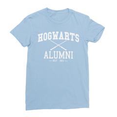 Hogwarts alumni baby blue women tshirt