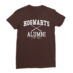 Hogwarts alumni chocolate women tshirt