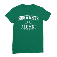 Hogwarts alumni kelly green women tshirt