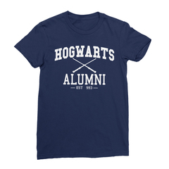 Hogwarts alumni navy women tshirt