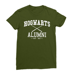 Hogwarts alumni olive women tshirt