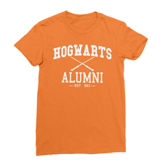 Hogwarts alumni orange women tshirt