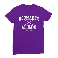 Hogwarts alumni purple women tshirt