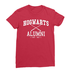 Hogwarts alumni red women tshirt