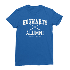Hogwarts alumni royal blue women tshirt