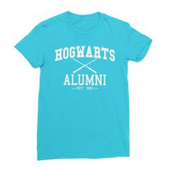 Hogwarts alumni turquoise women tshirt
