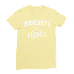Hogwarts alumni yellow women tshirt