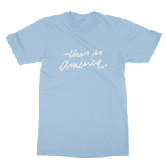 This is america baby blue men tshirt
