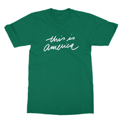 This is america kelly green men tshirt