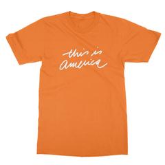 This is america orange men tshirt