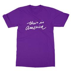 This is america purple men tshirt