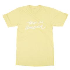 This is america yellow men tshirt