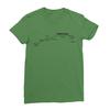 Sunset blvd black print leaf green women tshirt