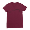 Sunset blvd black print maroon women tshirt