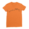 Sunset blvd black print orange women tshirt