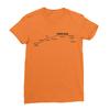Sunset blvd black print orange women tshirt