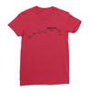 Sunset blvd black print red women tshirt