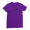 Sunset blvd black print purple women tshirt
