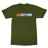 Left turn olive men tshirt